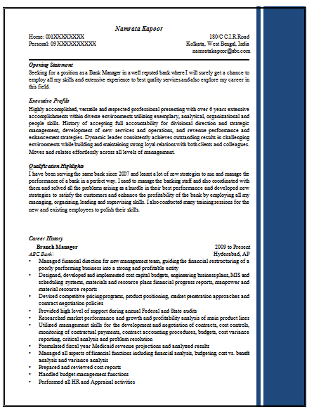 Excellent Resume Sample For Managers 1 Find More At Www Cv Resumesamples Blogspot Com Resume Writing Examples Job Interview Resume