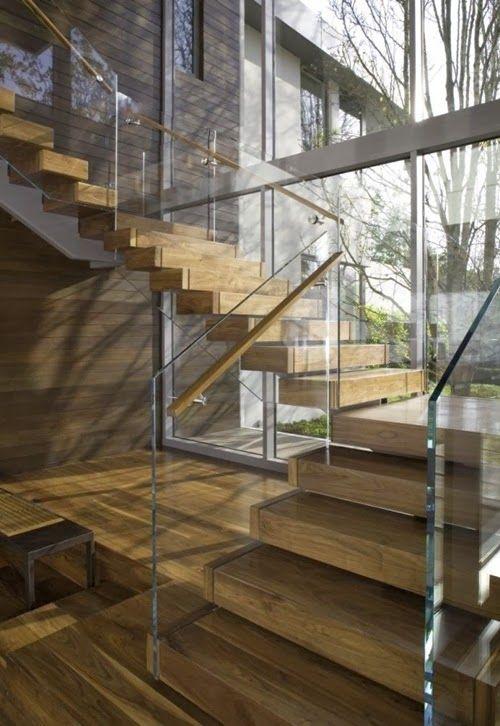 30 exemples d\'escaliers en bois pour maisons modernes | Ausflüge und ...