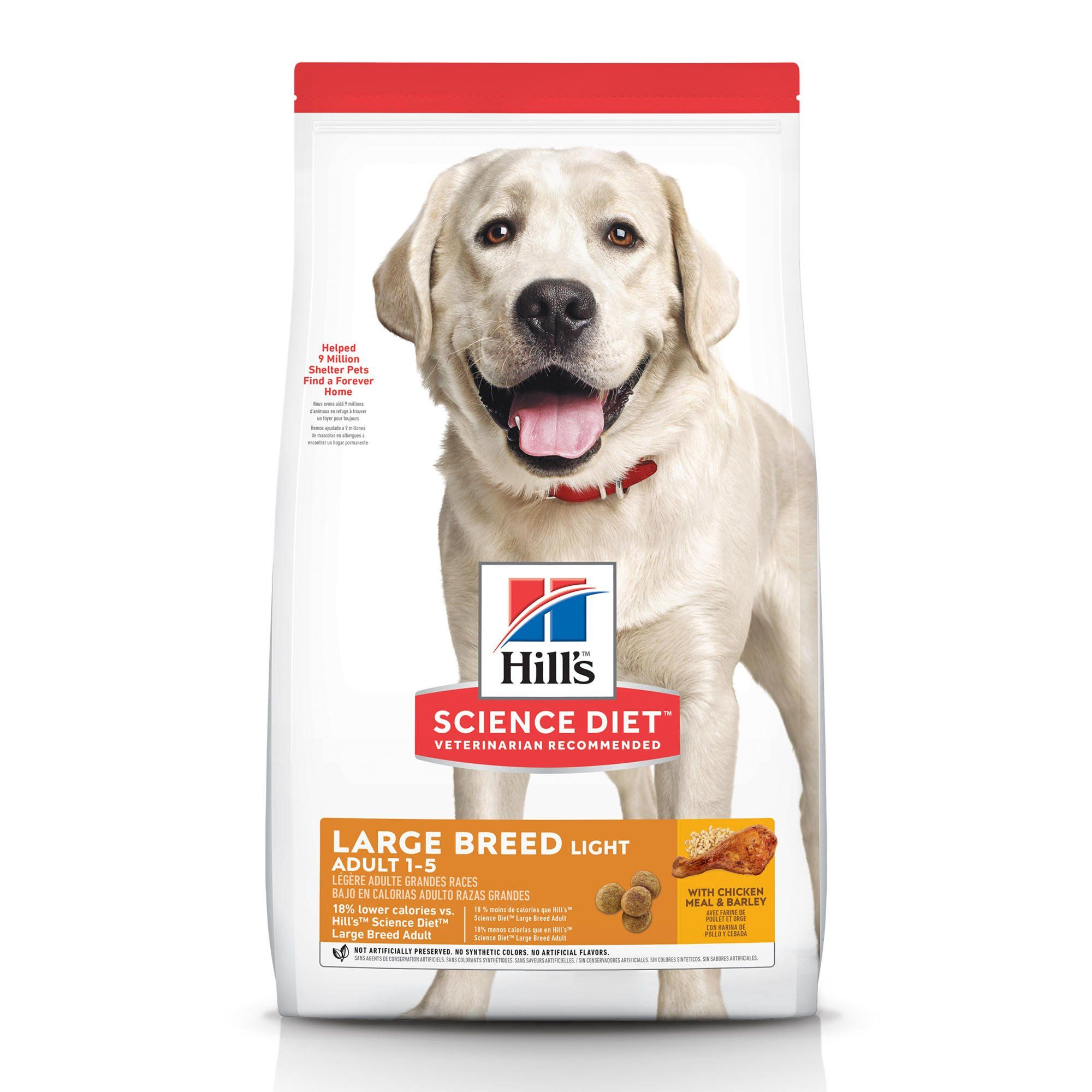 Hill S Science Diet Adult Light Large Breed With Chicken Meal