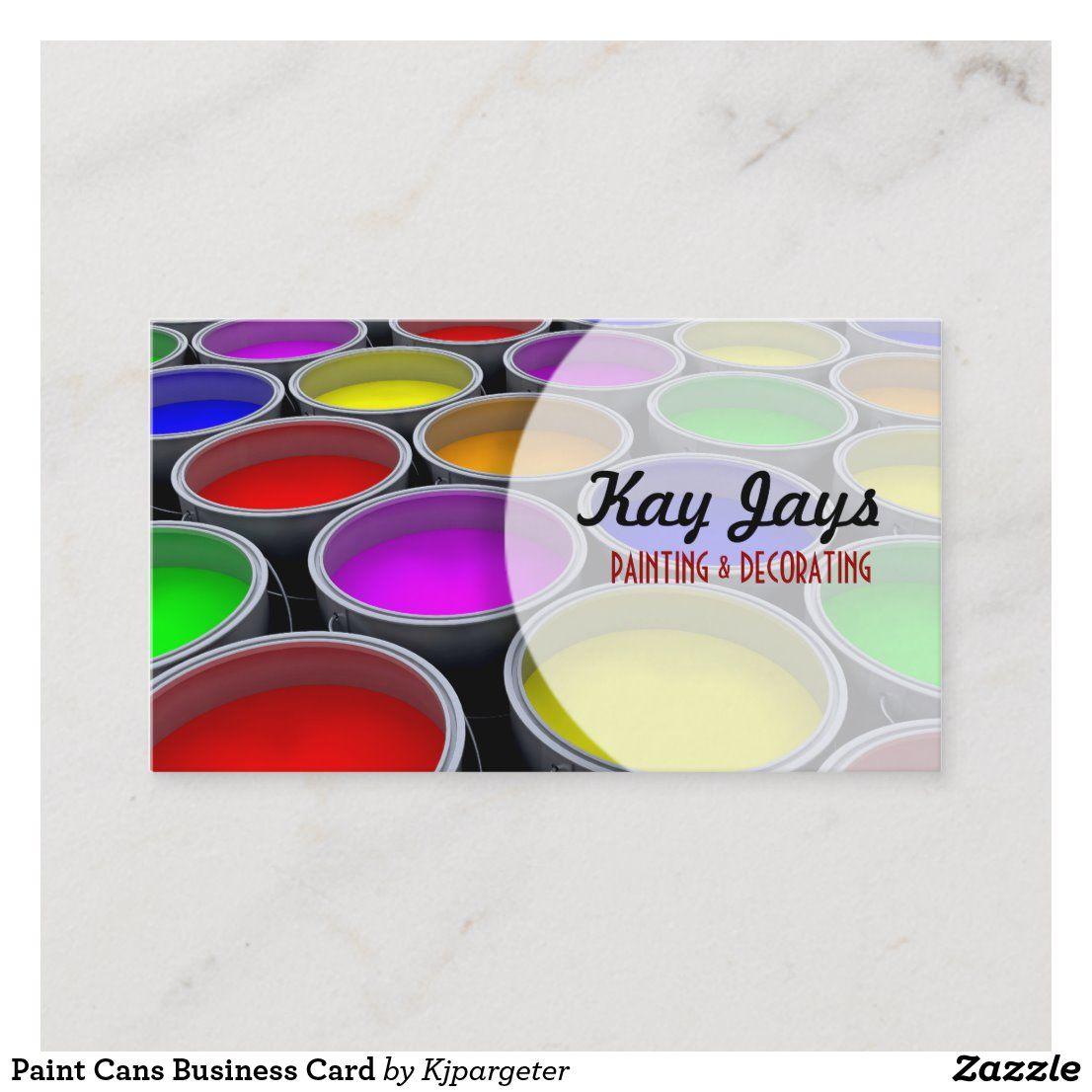 Paint Cans Business Card Zazzle Com In 2021 Painter Business Card Decorator Business Card Paint Cans