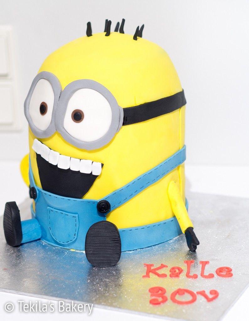 Despicable Me 3d fondant cake #despicableme #fondantcake www.tekila.fi