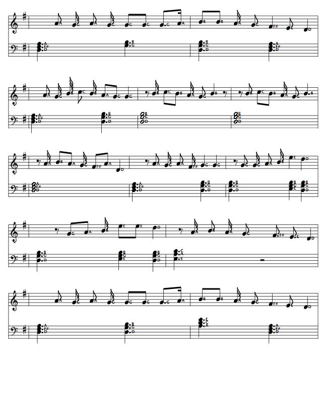 Hindi Bollywood Song Notes / Music Notation Sheets on www ...
