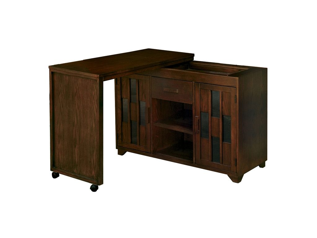 Anthony Of California Home Office Swing Out Console Cabinet/Desk   Erie PA,  Meadville PA At Seiferts Furniture