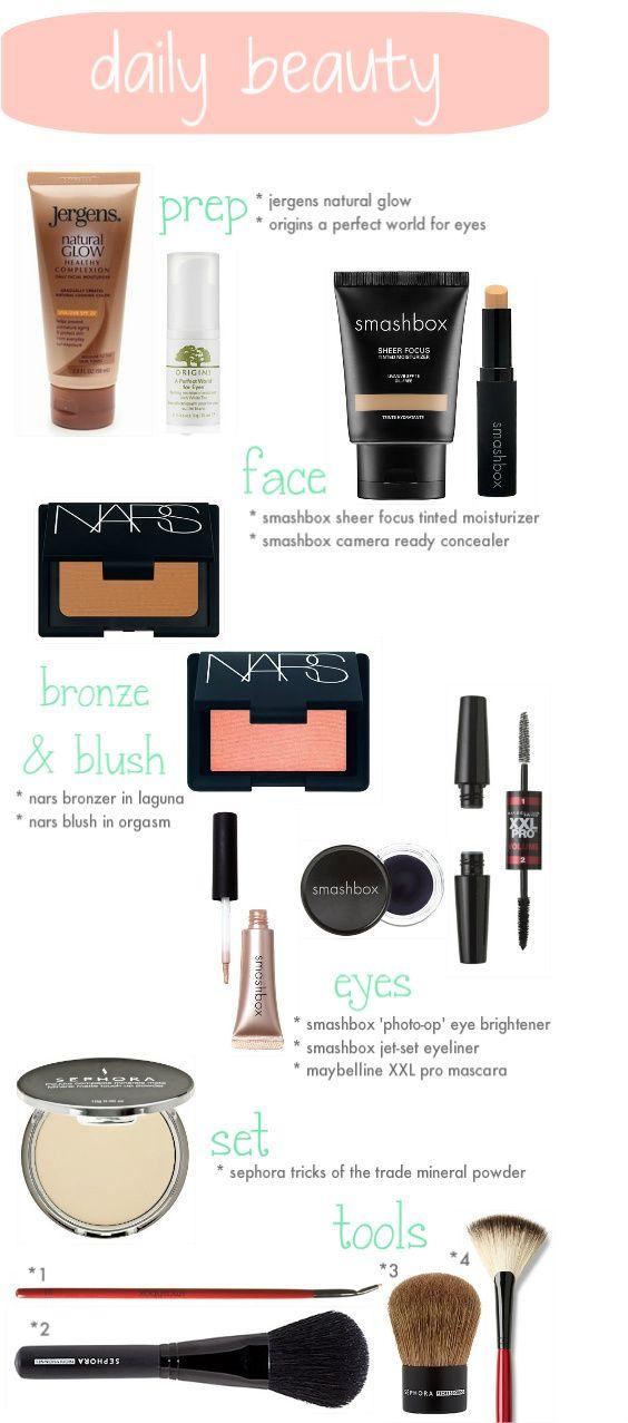 My beauty routine! @narscosmetics @smashbox