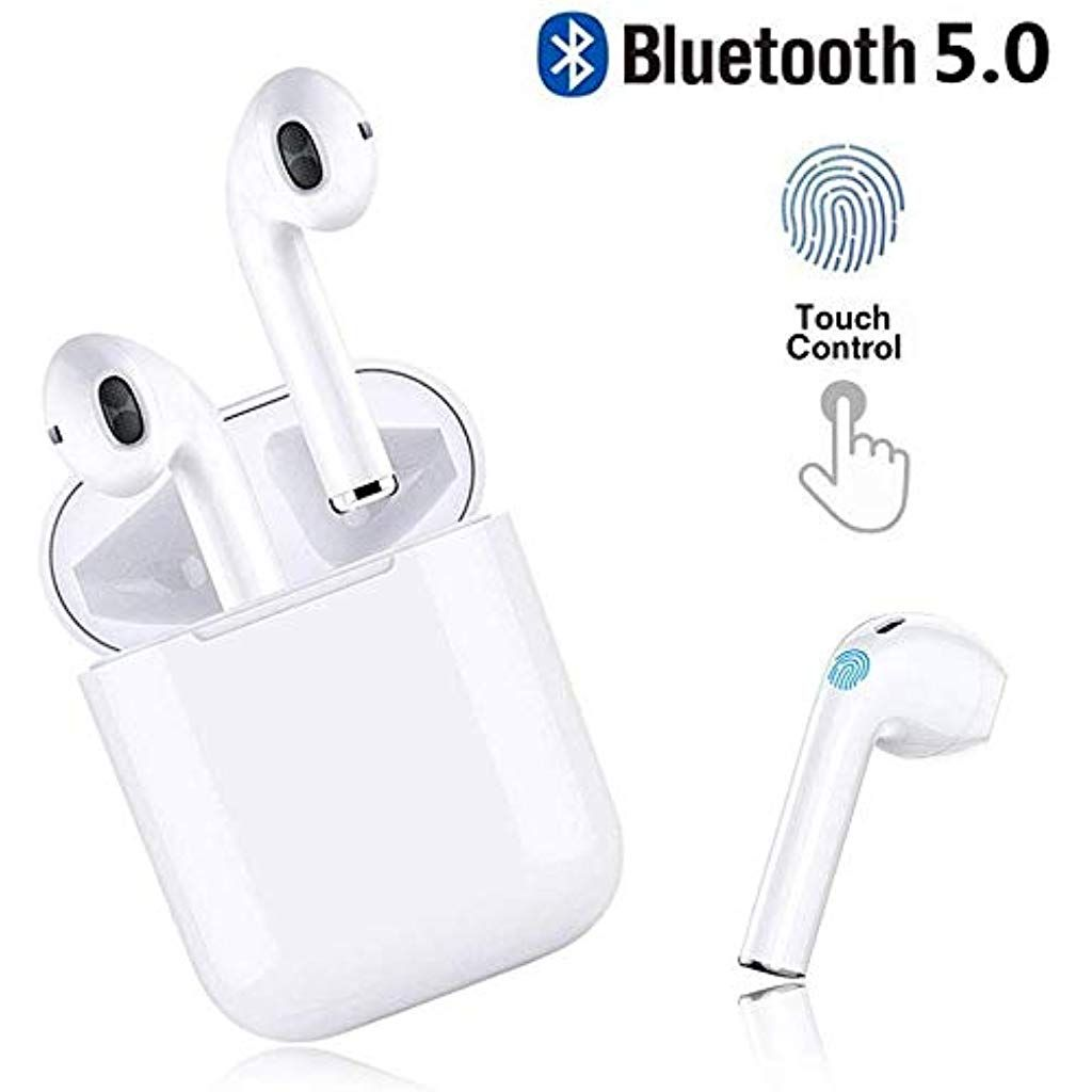 Bluetooth Kopfhorer In Ear Bluetooth 5 0 Headset Stereo Minikopfhorer Sport Kabellose Kopfhorer Mit Portable Mini L Bluetooth Noise Cancelling Kopfhorer Iphone