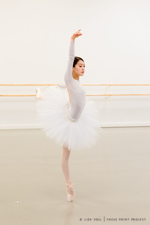 Misa Kuranaga rehearsing Swan Lake at Boston Ballet / Photo © Liza Voll