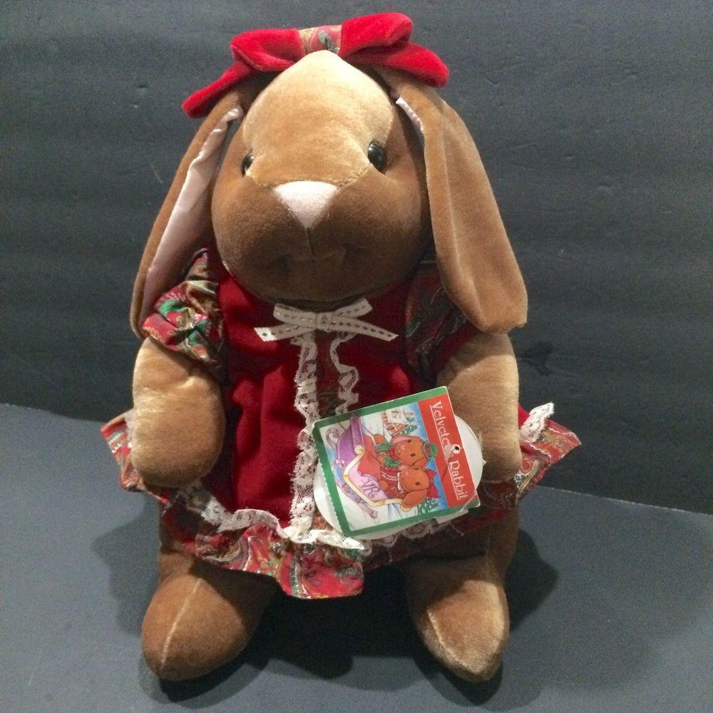 Velveteen Rabbit Plush Christmas Toys R Us Exclusive 1985 Photo Prop Children Rabbit Plush Christmas Plush Christmas Toys