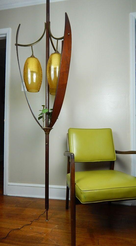 Mid Century Modern Teak Leaf Tulip