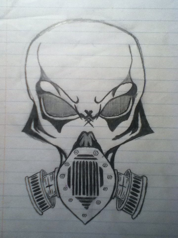 Cool Gas Mask Drawing