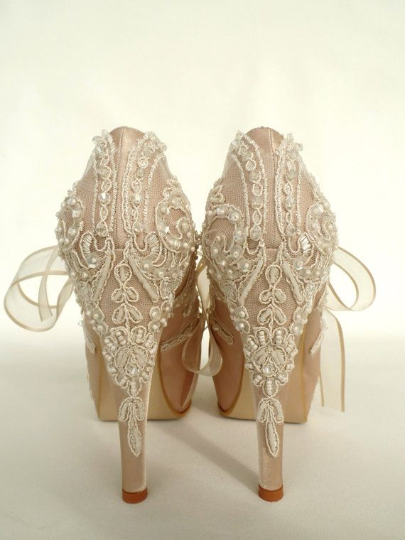 Scarpe Sposa Color Champagne.Lace Wedding Shoes Champagne Bridal Shoes Wedding Shoes Lace