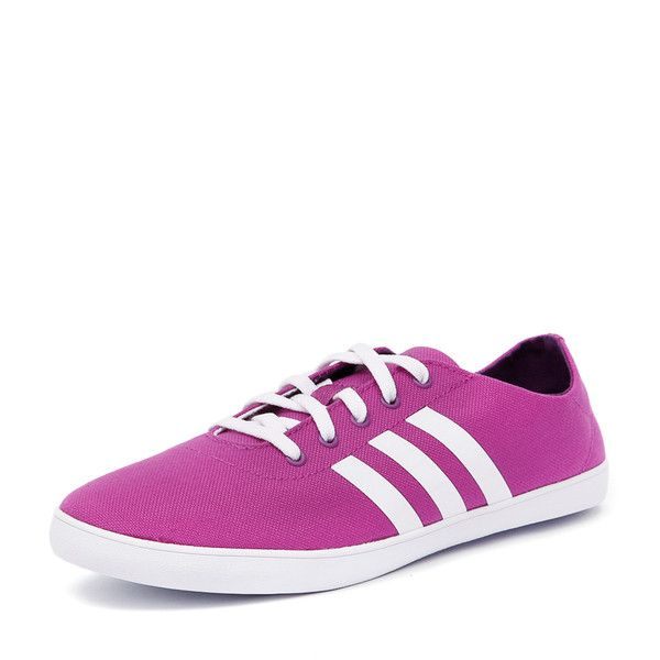 best service 09d30 c0fc2 Adidas Neo QT Vulc VS Pink White Purple (£24) ❤ liked on Polyvore featuring  shoes, sneakers, pink shoes, canvas sneakers, canvas flat sneakers, ...