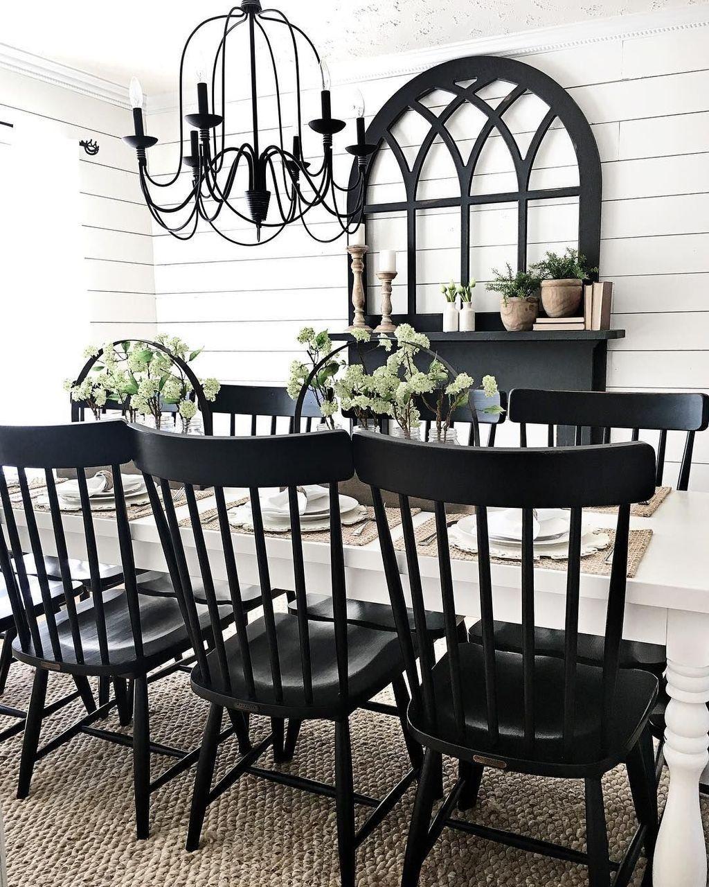 Kleine speisesaalideen modern  impressive black window frames ideas  gemütlich schön