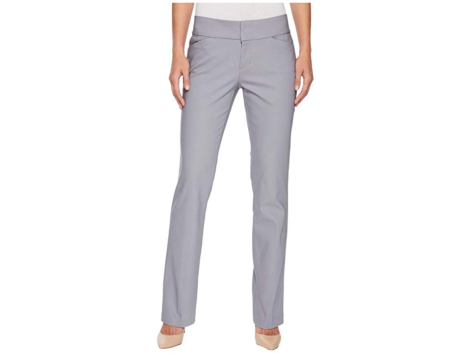 Liverpool Graham Bootcut Trousers in Windy Grey Windy Grey Womens Casual Pants Sleek and sophisticated Midrise trouser is slim through the thighs with a slight flare at t...