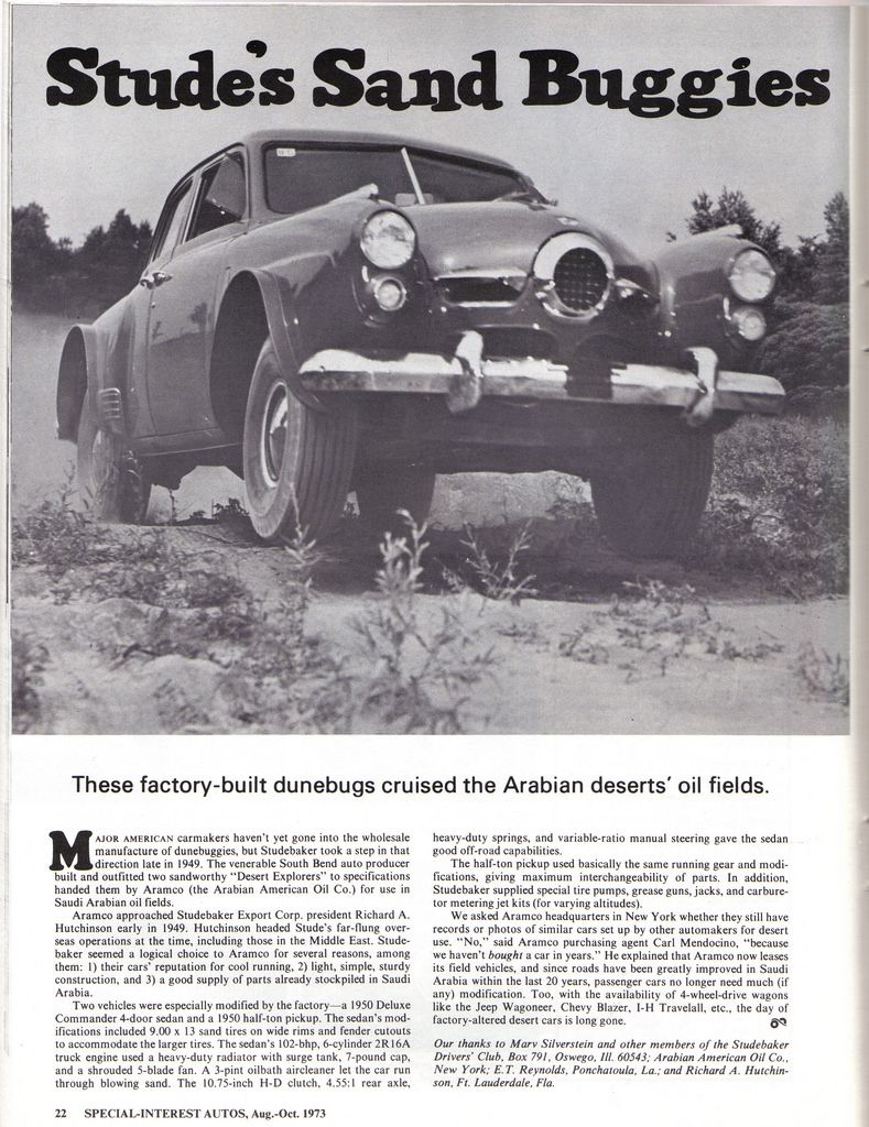 Desert Explorer Info Pics Wanted With Images Studebaker Pics
