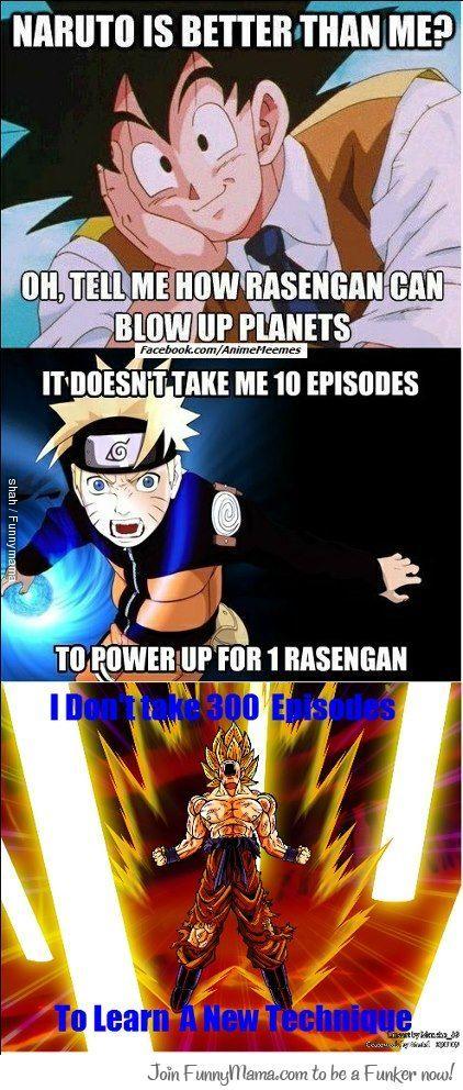 A Reply From Goku To Naruto Anime Dragon Ball Dragon Ball Artwork Anime