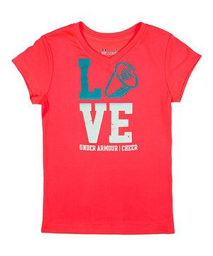 cbff33d9ab1 Red   Teal  Love UA Cheer  Cap-Sleeve Tee - Toddler by Under Armour ...