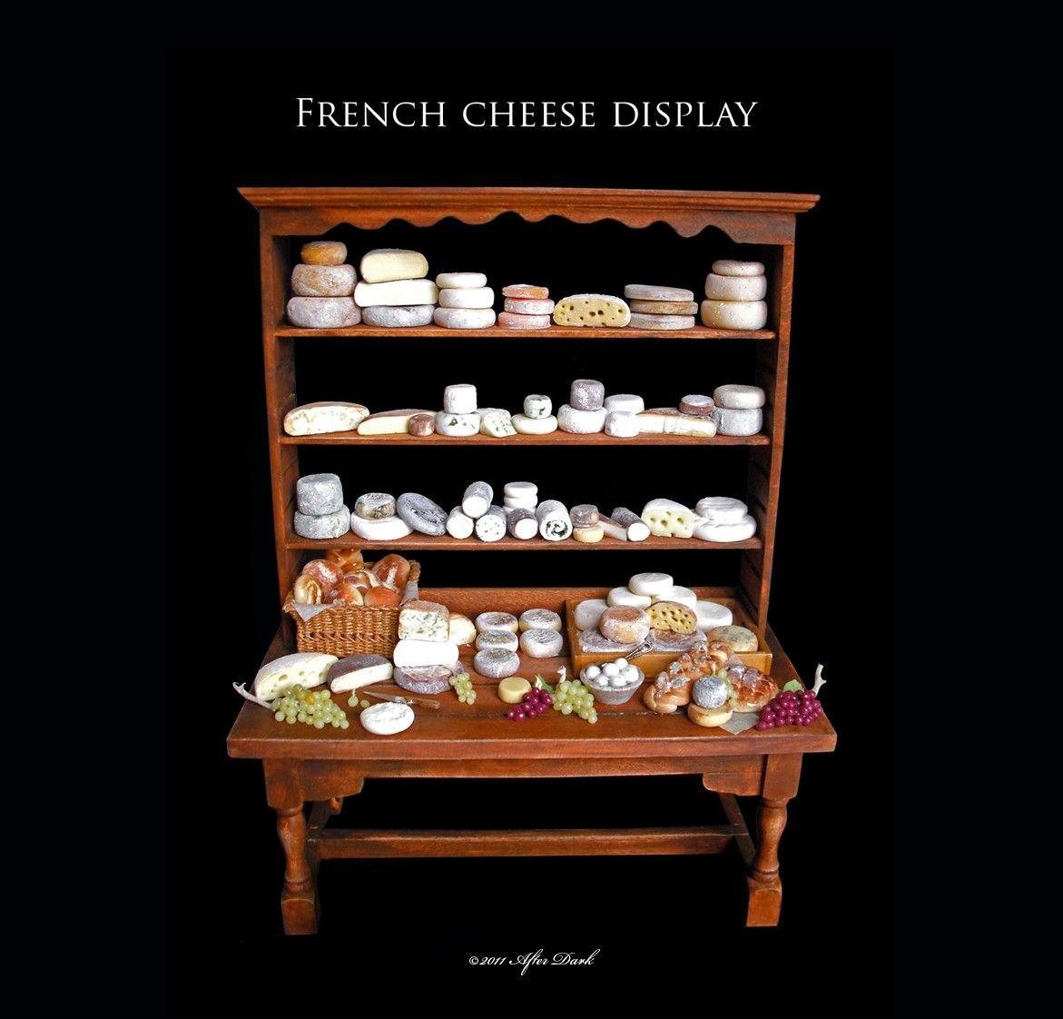 French luxury cheese display artisan fully handmade miniature in