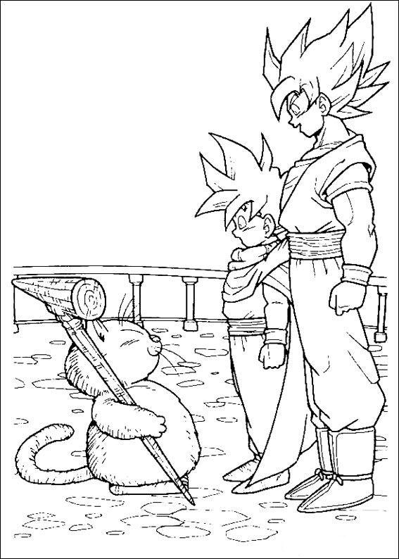 Dragon Ball Z Ausmalbilder. Malvorlagen Zeichnung druckbare nº 77 ...