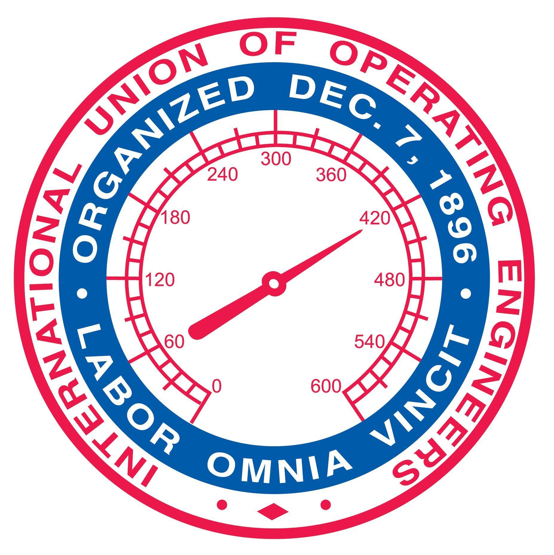 International Union Of Operating Engineers Union Labor Sticker