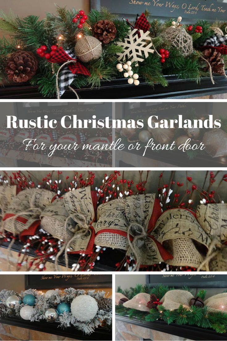 These rustic Christmas garlands are fantastic! I don't ...