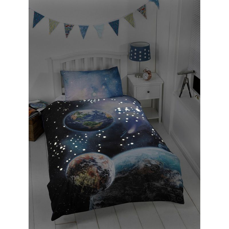 GLOW IN THE DARK PLANETS  BEDDING SET INSPIRED FOR  AMERICAN GIRL DOLL BED