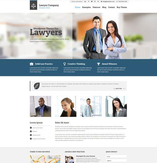 Recopilación de los mejores temas de WordPress para abogados ...