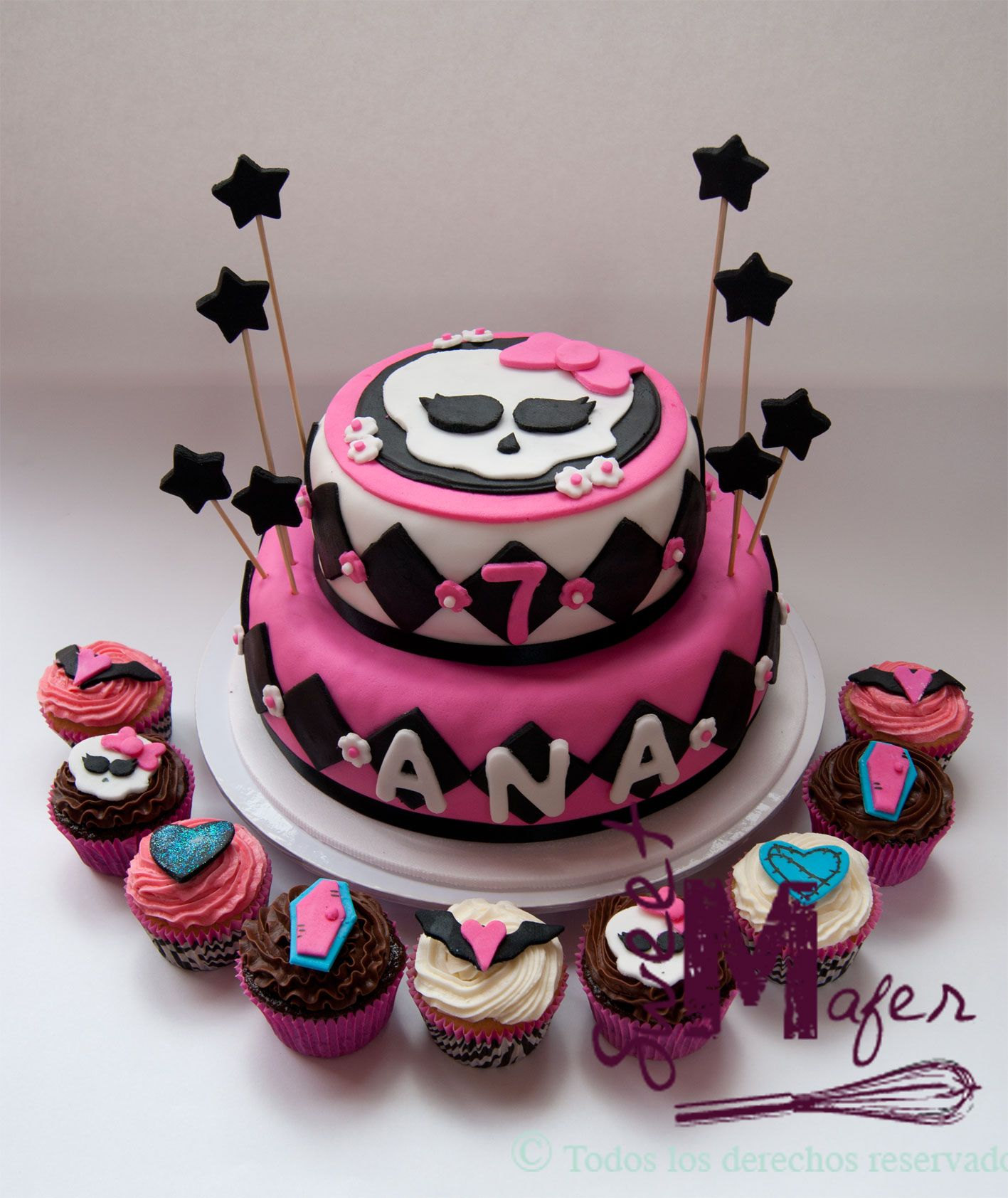 tortas de Monster High Draculaura - Buscar con Google | san ...