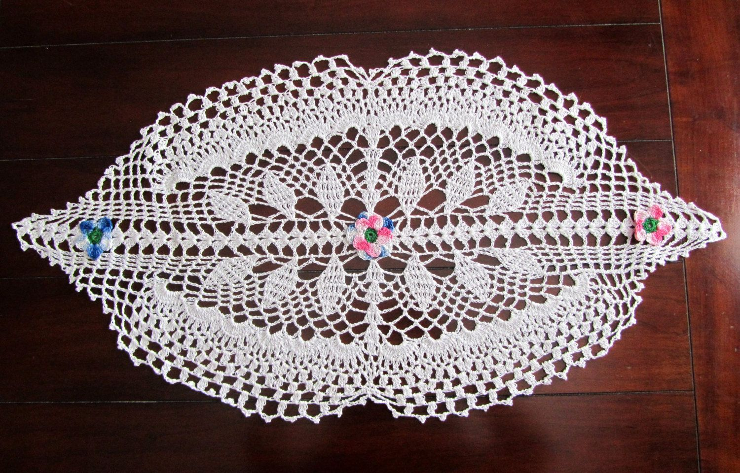 Crochet Doily Table Runner Traditional White Doily Beautiful