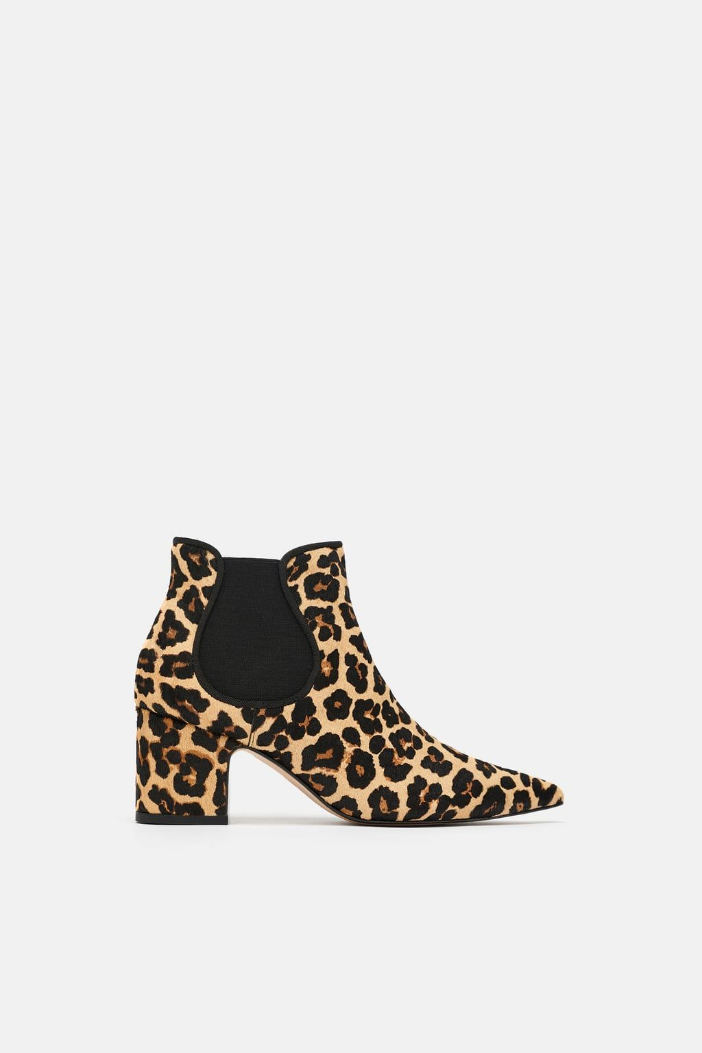 2f687fe6399 Printed leather high-heel ankle boots in 2019 | Boots! | Leopard ...