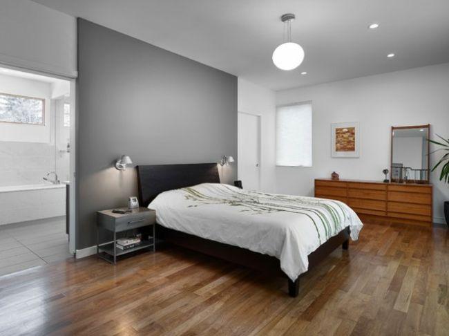 Murs et ameublement chambre tout en gris tendance | Master bedroom ...