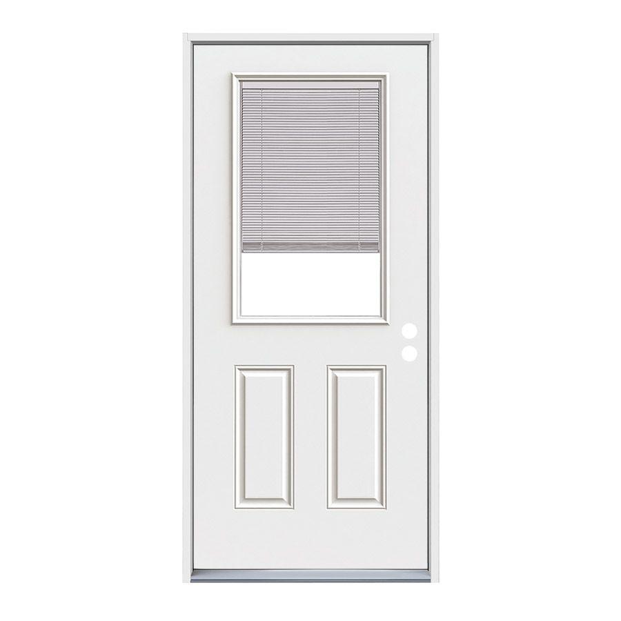 Jeldwen panel insulating core blinds between the glass half lite