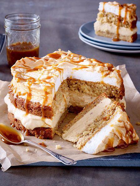Apfel Karamell Torte Rezept Karamell Torte Kuchen Weihnachtliche Kuchen Und Torten
