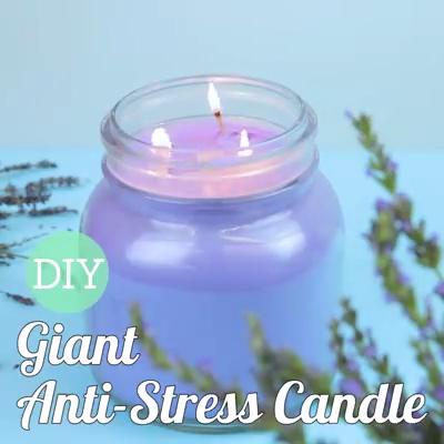 DIY Giant Anti-Stress Candle -   17 diy Candles cupcake ideas