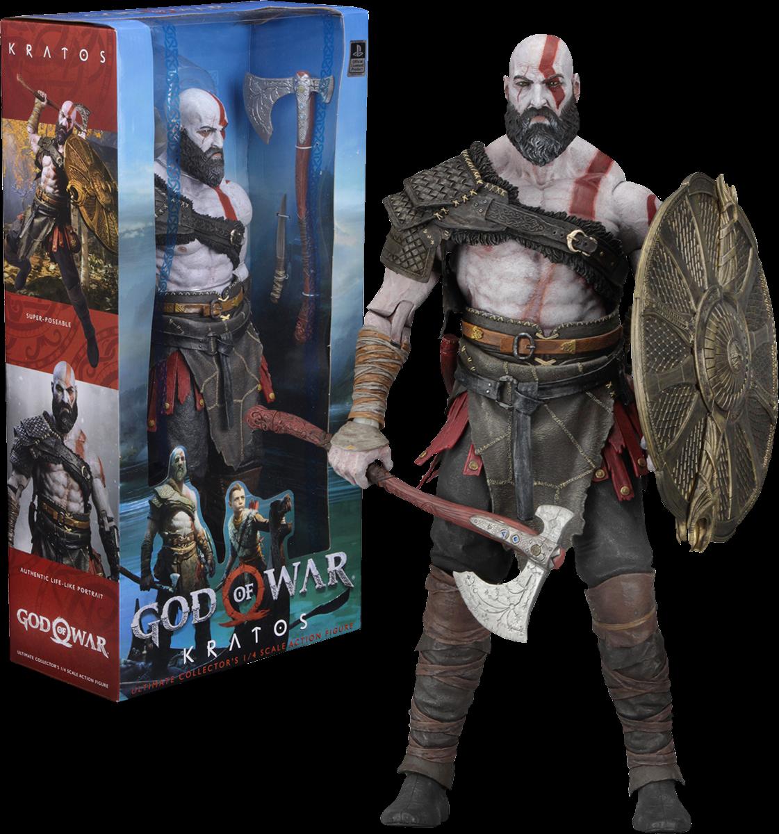 God Of War 2018 Kratos 1 4 Scale Action Figure