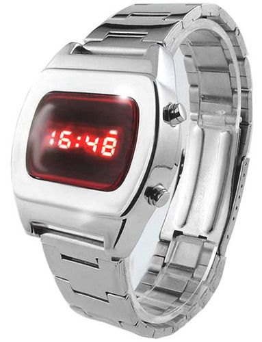 04adffce104 LED Watch Tx8 Multifunction Red Display Digital 70s Retro Chrome Watch-  Limited Edition - Collectors Model  watch  watches