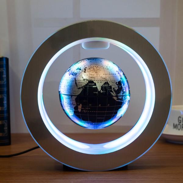 Novelty Round Led World Map Floating Globe Magnetic Levitation Light A Pop Grab Novelty Lighting Led Globe Lights Globe Lamps