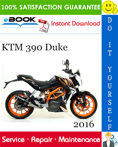 2016 Ktm 390 Duke Motorcycle Service Repair Manual Ktm Duke Motorcycle Repair Manuals