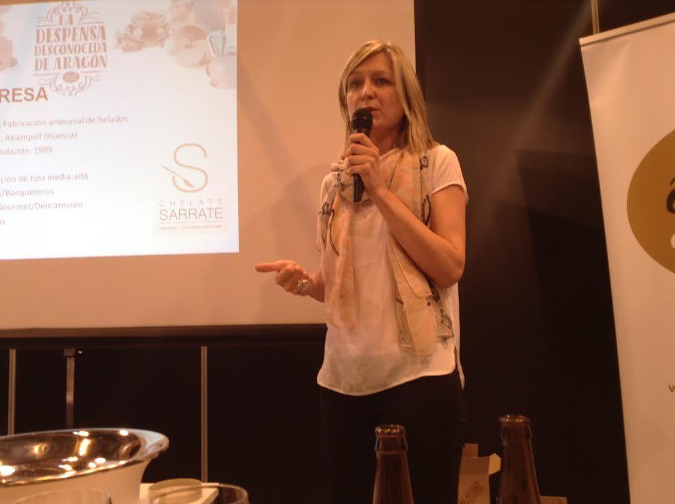 Salón del Gourmet 2015.  La desconocida despensa de Aragón.  Helados Sarrate.
