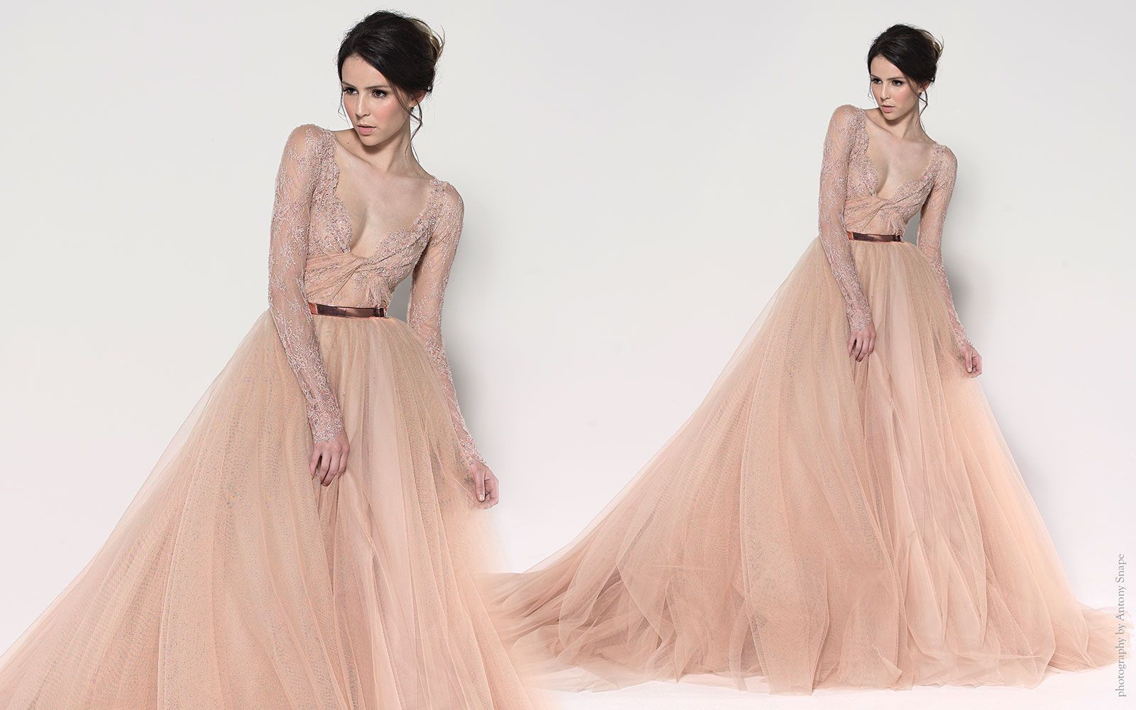 Champagne colored wedding dress  Paolo Sebastian  Official Site  Wedding dresses  Pinterest