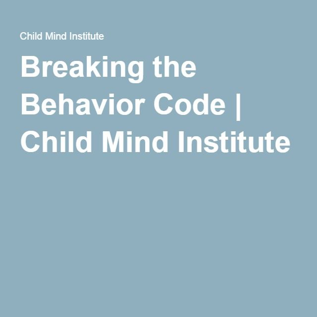 Breaking the Behavior Code. How teachers can read and respond more effectively to disruptive students