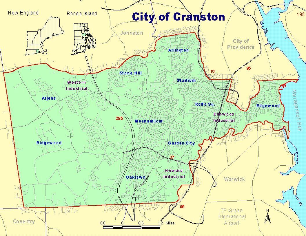 Neighborhood Maps Cranston Ri Cranston City Hall RI - Map of ri