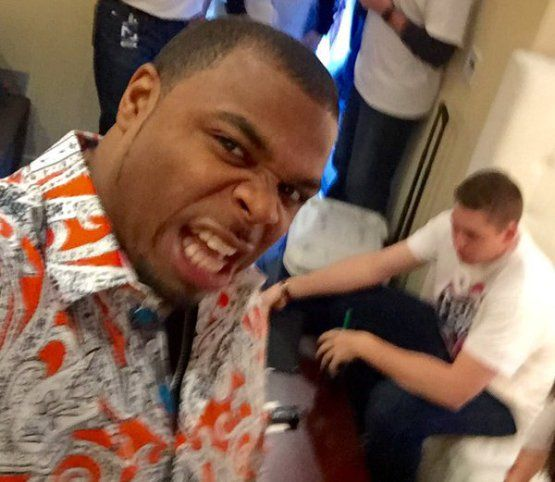 Cleveland Indians outfielder Rajai Davis hilariously introduces himself at Tribe Fest