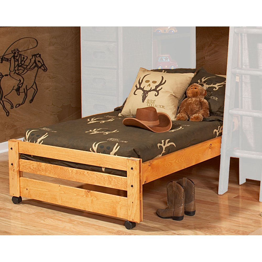 Rustic Cinnamon Pine Twin Caster Bed Palomino Bed Bed End Bed Frame
