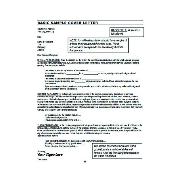 Basic Resume Cover Letter Example PDF Template Free Download