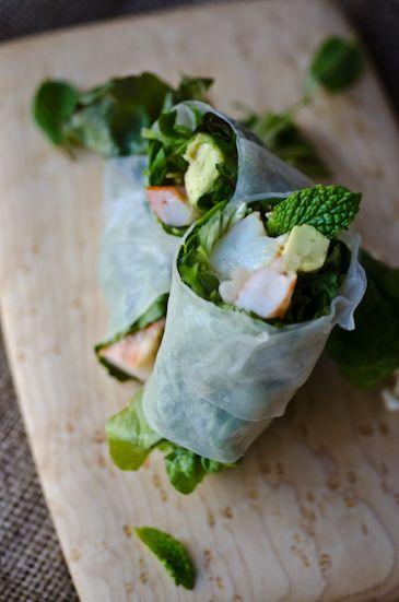Shrimp saladrolls