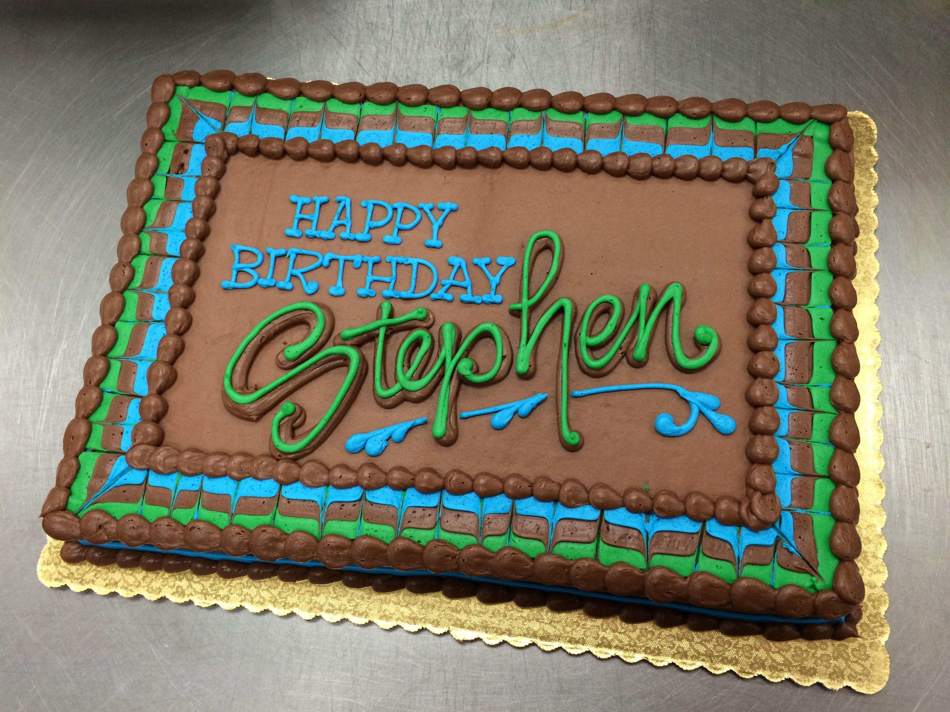 Strange Chocolate Masculine Sheet Cake By Stephanie Dillon Ls1 Hy Vee Personalised Birthday Cards Veneteletsinfo