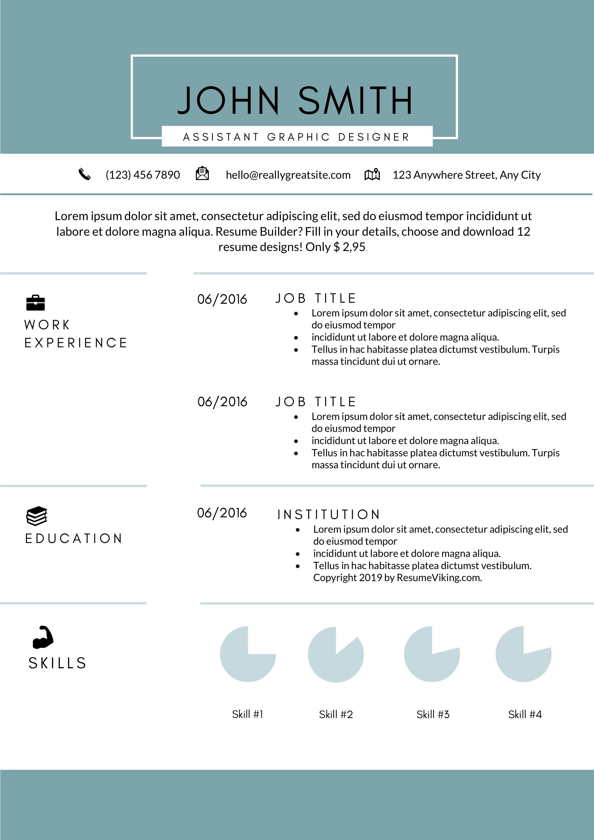 Free MS Word Resume Template Words, Resume template