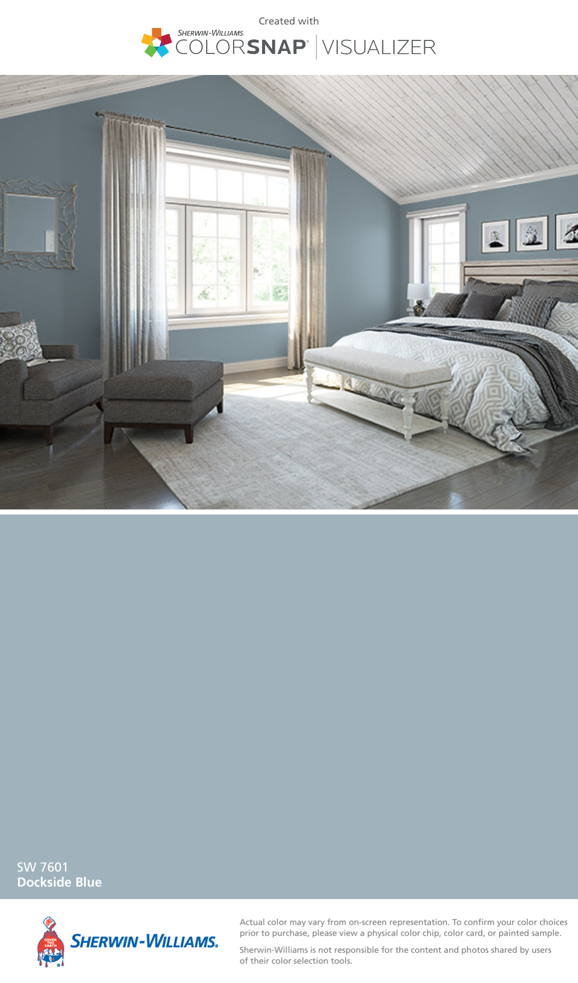 I Found This Color With Colorsnap Visualizer For Iphone By Sherwin Williams Dockside Blue Sw 7601 Bedroom Paint Colors Master Bedroom Paint Bedroom Colors