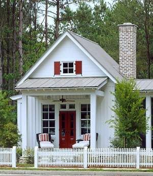 Moser Design Cottage Of The Year Guest Cottage (Southern Living House Plan  Country Cottage Building Plans . Here With Side Porch And Small Studio  Attached.