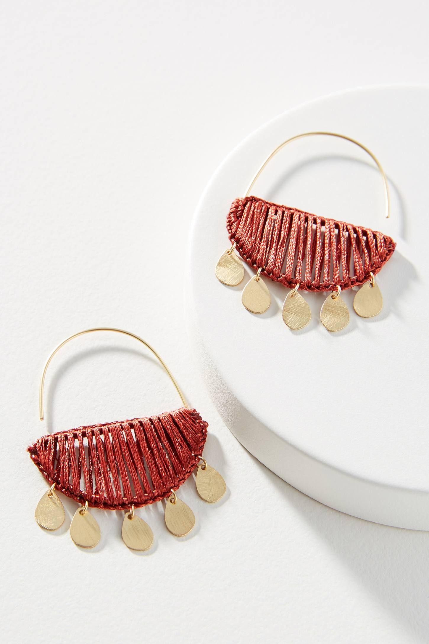 Zinnia Crescent Hoop Earrings Earrings handmade, Simple